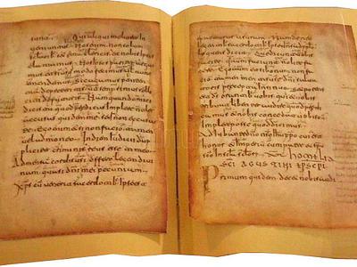 GLOSAS EMILIANENSES. Pequeñas anotaciones en latín, romance y vascuence, con la intención de aclarar el significado del texto latino. (S.XI)