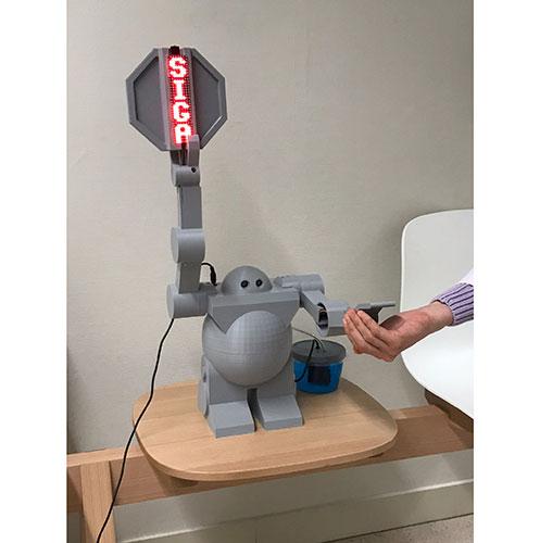 Robot dispensador de gel